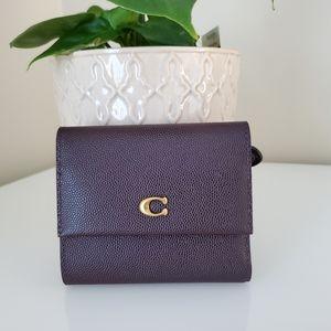 Coach Small Flap Wallet in Oxblood